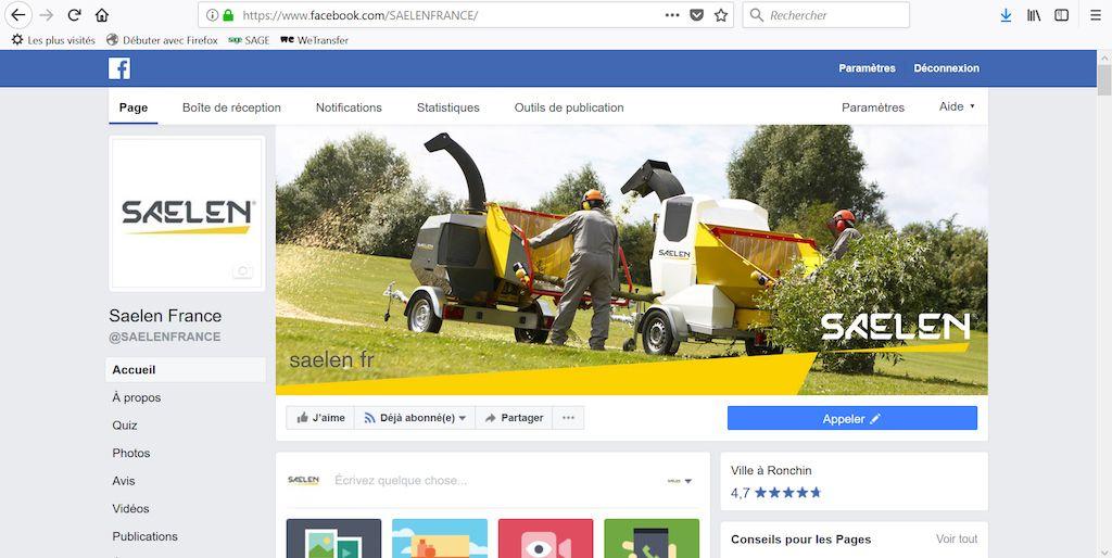 Likez la page Facebook Saelen France pour suivre notre actualité au quotidien ! visual